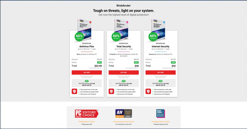 BitDefender paid antivirus pricing