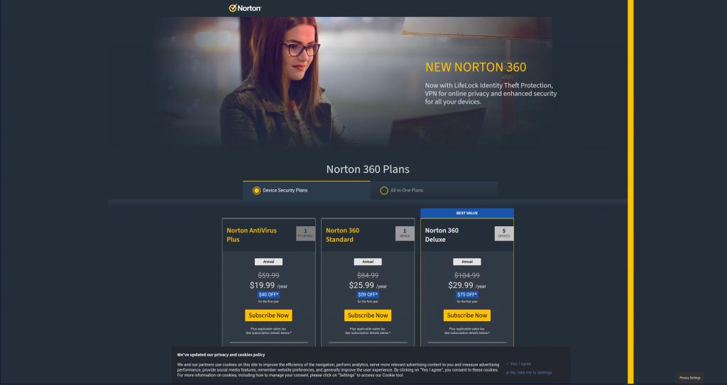 Norton360 antivirus pricing 2021